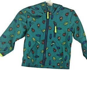 Cat And Jack Unisex Jacket 12 Months Green Bugs